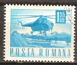 Sellos del Mundo : Europa : Rumania : Transp. y telecomu.Helicóptero Mil mi-4.