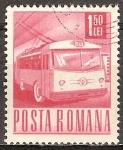 Sellos del Mundo : Europa : Rumania : Trolley-bus.