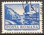 Stamps Romania -  Estación de energía hidroeléctrica.
