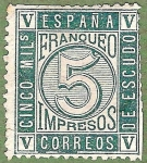 Stamps Spain -  Cifras, Edifil 93