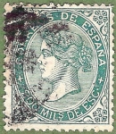 Stamps Europe - Spain -  Isabel II, Edifil 100