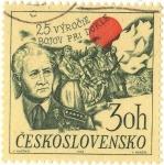 Sellos de Europa - Checoslovaquia -  25·VÝROCIE BOJOV PRI DUKLE