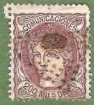 Stamps Spain -  Efigie aleg. de España, Edifil 109