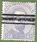 Stamps Europe - Spain -  Amadeo I, Edifil 121 A