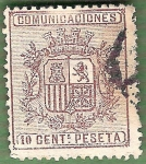 Stamps : Europe : Spain :  Escudo de España, Edifil 153 B