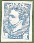 Stamps Europe - Spain -  Carlos VII, Edifil 156