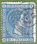 Stamps : Europe : Spain :  Alfonso XII, Edifil 164