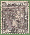 Stamps : Europe : Spain :  Alfonso XII, Edifil 169