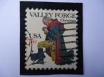 Sellos de America - Estados Unidos -  General George Washington,orándo en  valle Foge,Pensilvania.,