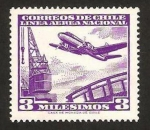 Stamps : America : Chile :  193 - Avión y grúa portuaria