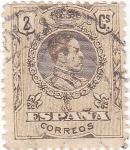Stamps Spain -  ALFONSO  XIII Tipo Medallón    (V)