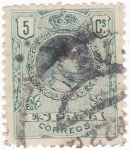 Sellos de Europa - España -  ALFONSO  XIII Tipo Medallón    (V)