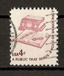 Stamps United States -  Ilustraciones de la Democracia Americana.