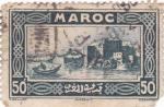 Sellos del Mundo : Africa : Marruecos : VISTA DE RABAT