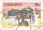 Stamps Zimbabwe -  TRANSPORTE DE VIAJEROS