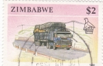 Stamps Zimbabwe -  TRANSPORTE TERRESTRE
