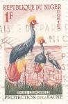 Stamps Niger -  PROTECCIÓN DE LA FAUNA- Grulla