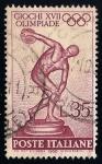 Sellos del Mundo : Europa : Italia :  17 Juegos Olímpicos, Roma, 25-ago. a.11-sep. Discóbolo de Myron.