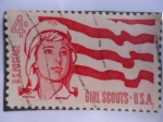 Stamps United States -  Girl Scouts-USA.