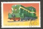 Stamps North Korea -  1397 J - Locomotora diesel