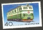 Stamps North Korea -  1397 N - Locomotora eléctrica