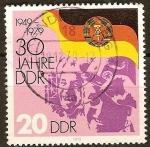 Sellos de Europa - Alemania -  30a Aniv de la República Democrática Alemana (DDR).