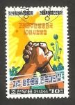 Sellos de Asia - Corea del norte -  1656 - Mapa de Corea