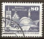 Sellos del Mundo : Europa : Alemania : Edificios en Rostock-Warnemünde.DDR.