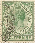 Stamps Europe - United Kingdom -  Half penny Gibraltar
