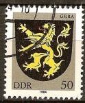 Sellos de Europa - Alemania -  Escudo de armas de Gera-DDR.