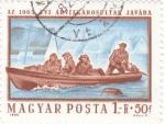 Stamps Hungary -  Personas Perjudicadas por las inundaciones