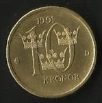 monedas de Europa - Suecia -  CORONAS - SUECIA. ( FRONTAL)