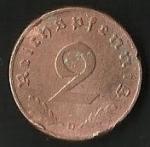 monedas de Europa - Alemania -  AGUILA - CRUZ EVASTICA - D. REICH. (FRONTAL)