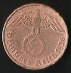 monedas de Europa - Alemania -  AGUILA - CRUZ EVASTICA - D. REICH. (POSTERIOR)