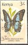 Stamps Kenya -  PAPILIO  DESMONDI  TEITA