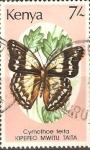 Stamps Kenya -  CYMOTHOE  TEITA