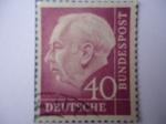 Sellos de Europa - Alemania -  THEODOR HEUSS -1884-1963-1º presidente de la R.F.A