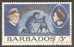 Sellos de America - Barbados -  MUCHACHA  EXPLORADORA,  SEÑORA  BADEN-POWELL  Y  REINA  ELIZABETH  II