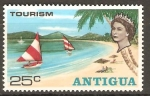 Stamps Antigua and Barbuda -  PLAYA  Y  VELEROS
