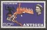 Stamps Antigua and Barbuda -  BAILARÌN  DE  LIMBO,  LLAMAS  Y  BAILARINAS