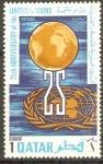 Stamps Asia - Qatar -  GLOBO  Y  EMBLEMA  DE  LAS  NACIONES  UNIDAS