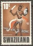 Sellos del Mundo : Africa : Swazilandia : SWAZI  DANZA  DE  LA  CAÑA