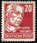Sellos del Mundo : Europa : Alemania : kathe kollwitz