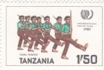 Sellos de Africa - Tanzania -  AÑO INTERNACIONAL DE LOS JOVENES