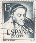 Stamps Spain -  TIRSO DE MOLINA -Literato   (W)