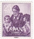 Sellos de Europa - España -  III Centenario de la muerte de San Vicente de Paul  (W)
