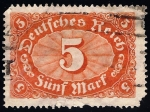 Stamps Germany -  VALOR NUMERAL.