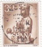Stamps Spain -  Ntra, Sra. de Montserrat -AÑO MARIANO  (W)