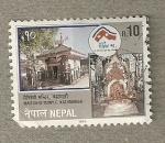 Sellos del Mundo : Asia : Nepal : Templo Maitedevi