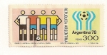Sellos del Mundo : America : Argentina : Equipos del mundial de futbol Argentina 78